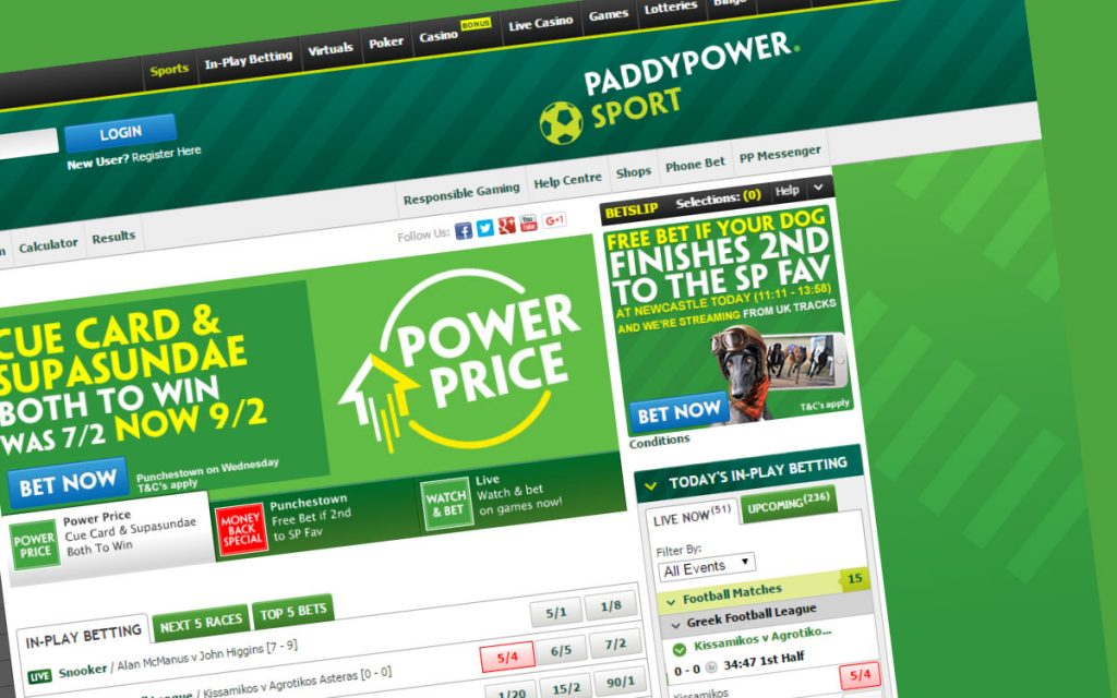 Paddy Power to the players: